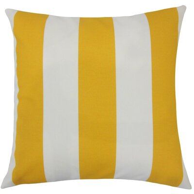 Kanha Striped Throw Pillow Size: 18 H x 18 W x 5 D, Color: Citrus