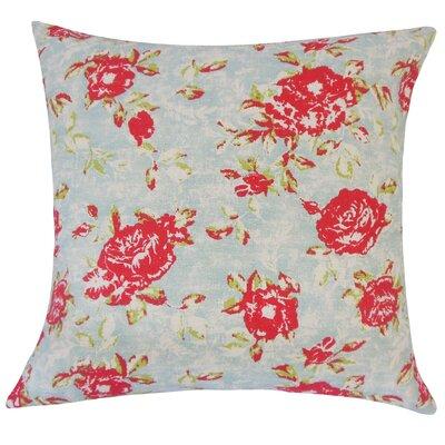 Nanne Floral Cotton Throw Pillow Size: 18 H x 18 W x 5 D