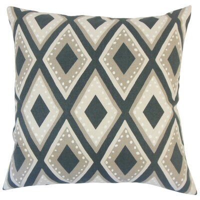 Shasa Geometric Cotton Throw Pillow Size: 18 H x 18 W x 5 D, Color: Ink