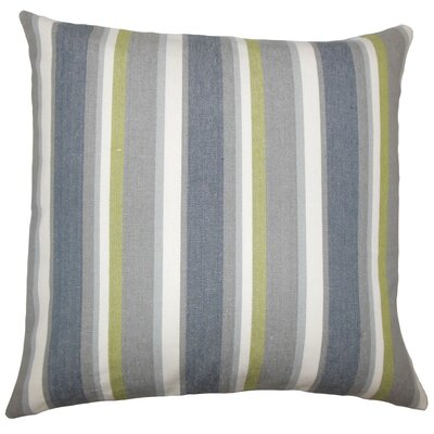 Reiki Striped Cotton Throw Pillow Size: 18 H x 18 W x 5 D, Color: Metal