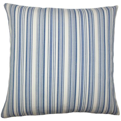 Tafari Striped Throw Pillow Size: 18 H x 18 W x 5 D, Color: Blue