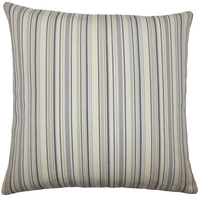Tafari Striped Throw Pillow Size: 18 H x 18 W x 5 D, Color: Dusk