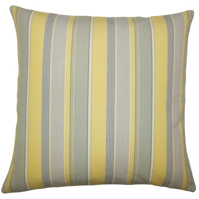Saroja Striped Cotton Throw Pillow Size: 20 H x 20 W x 5 D, Color: Buttercup
