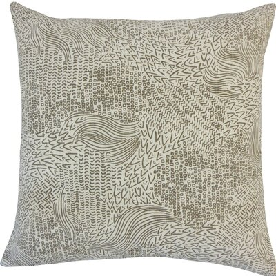 Taisiya Geometric Cotton Throw Pillow Size: 20 H x 20 W x 5 D, Color: Brindle