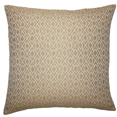 Calanthe Geometric Throw Pillow Size: 24 x 24, Color: Camel