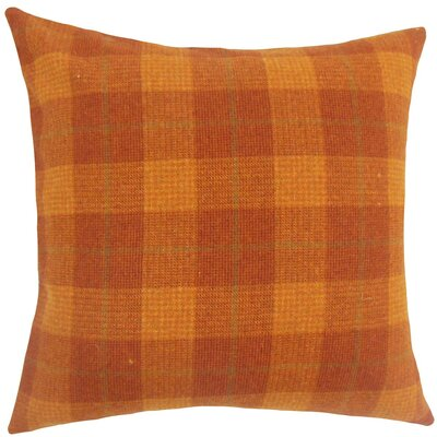 Damir Plaid Wool Throw Pillow Size: 18 H x 18 W x 5 D