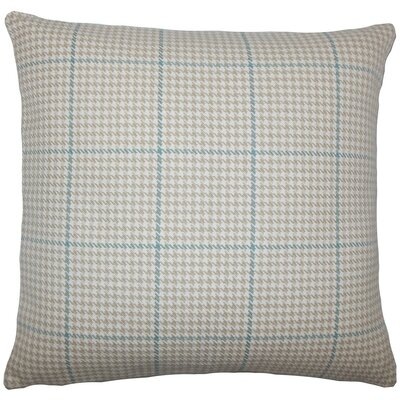 Jariah Houndstooth Cotton Throw Pillow Size: 18 H x 18 W x 5 D, Color: Bamboo