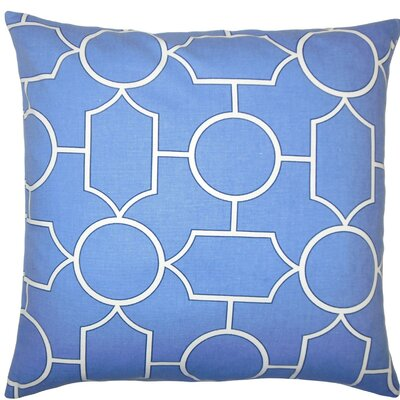 Samoset Geometric Cotton Throw Pillow Size: 18 x 18, Color: Chambray