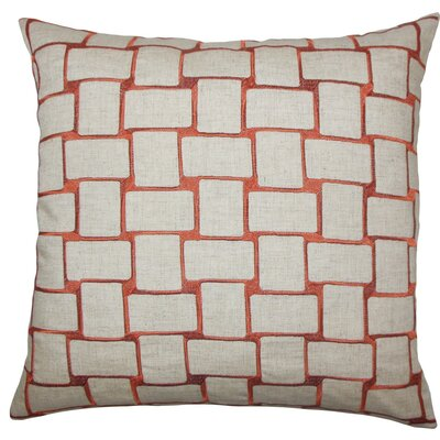 Haig Geometric Throw Pillow Color: Persimmon, Size: 22 x 22