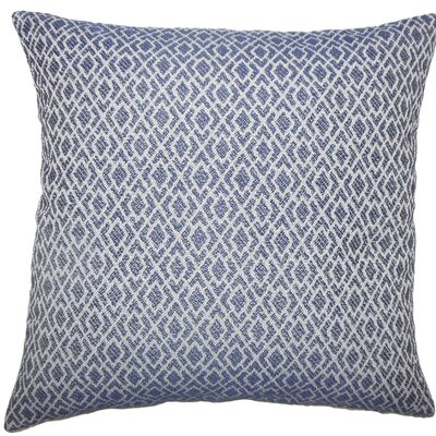 Calanthe Geometric Throw Pillow Color: Navy, Size: 24 x 24