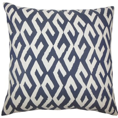 Yasunari Geometric Throw Pillow Size: 18 H x 18 W x 5 D, Color: Indigo