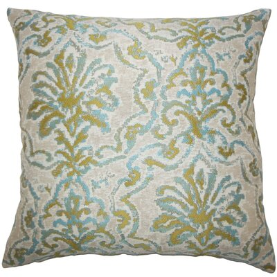 Zain Damask Throw Pillow Color: Caribbean, Size: 24 x 24