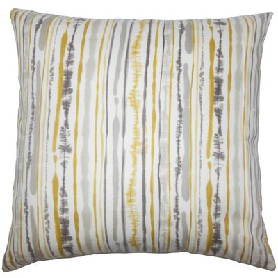 Jumoke Striped Cotton Throw Pillow Color: Yellow, Size: 24 x 24