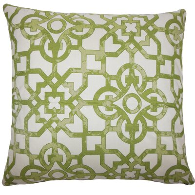 Garrick Geometric Throw Pillow Size: 18 H x 18 W x 5 D, Color: Fig