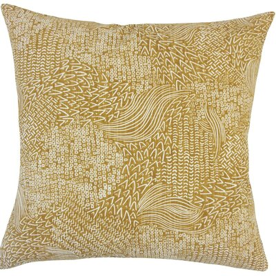 Taisiya Geometric Cotton Throw Pillow Size: 18 H x 18 W x 5 D, Color: Amber