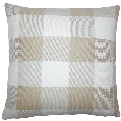 Inali Plaid Cotton Throw Pillow Size: 18 H x 18 W x 5 D, Color: Sesame