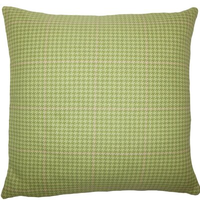 Yanichel Houndstooth Cotton Throw Pillow Size: 18 H x 18 W x 5 D