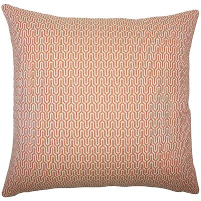Pandora Geometric Throw Pillow Size: 18 H x 18 W x 5 D, Color: Melon