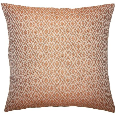 Calanthe Geometric Throw Pillow Color: Melon, Size: 22 x 22