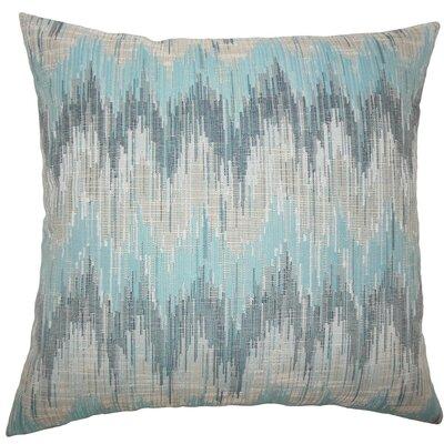 Fleta Ikat Throw Pillow Color: Teal, Size: 22 x 22
