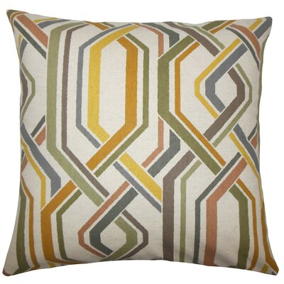 Jax Geometric Throw Pillow Size: 18 H x 18 W x 5 D, Color: Greystone