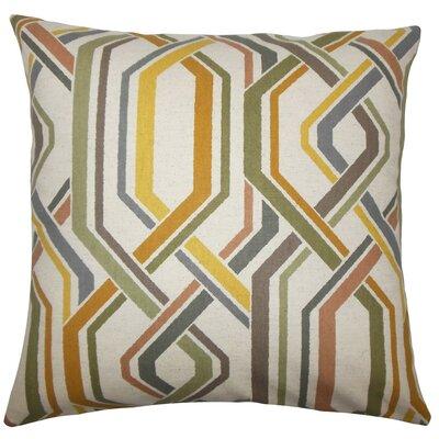 Jax Geometric Throw Pillow Size: 20 H x 20 W x 5 D, Color: Greystone