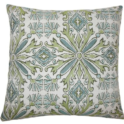 Esadowa Damask Throw Pillow Size: 18 H x 18 W x 5 D, Color: Aqua Green