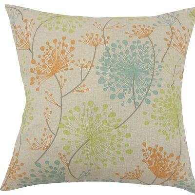 Danessa Floral Cotton Throw Pillow Size: 20 H x 20 W x 5 D, Color: Ridgeland