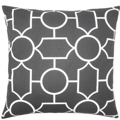 Samoset Geometric Cotton Throw Pillow Size: 18 x 18, Color: Ebony