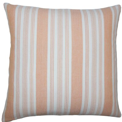 Reiki Striped Cotton Throw Pillow Size: 18 H x 18 W x 5 D, Color: Orange