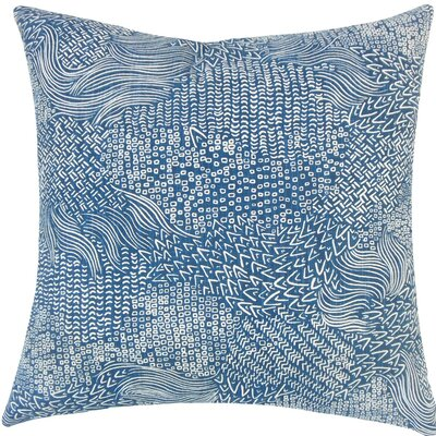 Taisiya Geometric Cotton Throw Pillow Size: 18 H x 18 W x 5 D, Color: Calypso