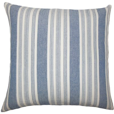 Reiki Striped Cotton Throw Pillow Size: 18 H x 18 W x 5 D, Color: Denim
