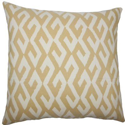 Yasunari Geometric Throw Pillow Size: 18 H x 18 W x 5 D, Color: Alabaster
