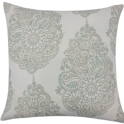 Lanza Damask Cotton Throw Pillow Size: 18 H x 18 W x 5 D, Color: Twill