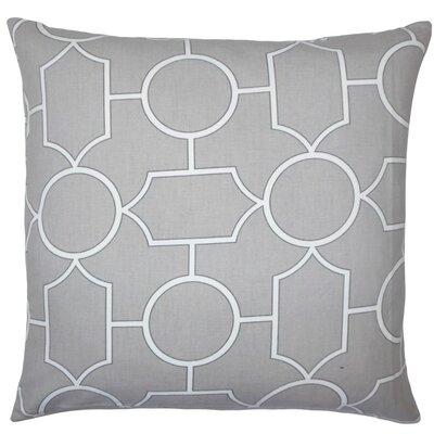 Samoset Geometric Cotton Throw Pillow Size: 18 x 18, Color: Dove