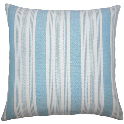 Reiki Striped Cotton Throw Pillow Size: 20 H x 20 W x 5 D, Color: Turquoise