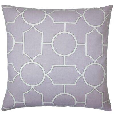 Samoset Geometric Cotton Throw Pillow Size: 18 x 18, Color: Lavender