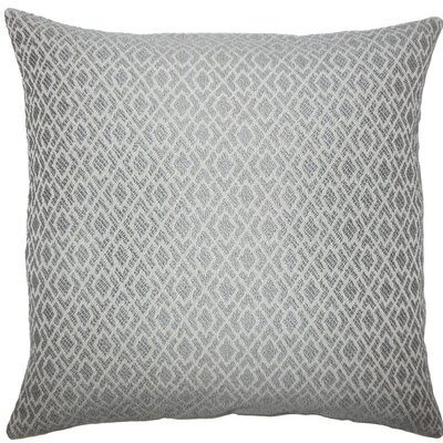 Calanthe Geometric Throw Pillow Color: Pewter, Size: 22 x 22