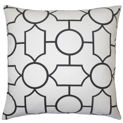Samoset Geometric Cotton Throw Pillow Size: 18 x 18, Color: Black