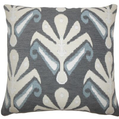 Berke Ikat Throw Pillow Size: 18 H x 18 W x 5 D, Color: Stone