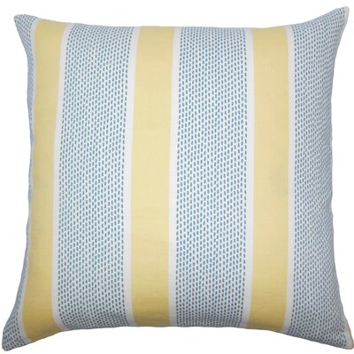 Velten Striped Cotton Throw Pillow Size: 20 x 20, Color: Lemon