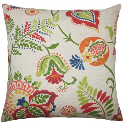 Ikuyo Floral Throw Pillow Size: 18 H x 18 W x 5 D, Color: Jewel