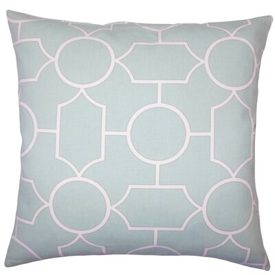 Samoset Geometric Cotton Throw Pillow Size: 22 x 22, Color: Seaglass