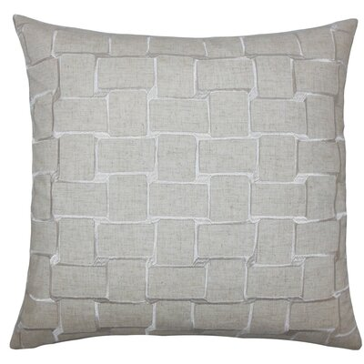 Haig Geometric Throw Pillow Size: 18 x 18, Color: Natural