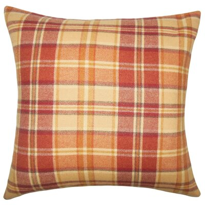 Heaton Plaid Wool Throw Pillow Size: 20