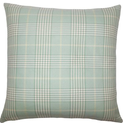 Landen Houndstooth Cotton Throw Pillow Size: 18 H x 18 W x 5 D, Color: Seaglass
