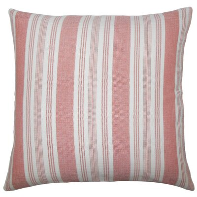 Reiki Striped Cotton Throw Pillow Size: 20 H x 20 W x 5 D, Color: Spice