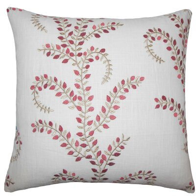 Wauna Floral Throw Pillow Size: 18 H x 18 W x 5 D, Color: Chili Pepper
