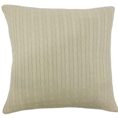 Ochekka Knit Cotton Throw Pillow Color: Natural, Size: 24 x 24
