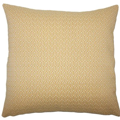 Pandora Geometric Throw Pillow Size: 18 H x 18 W x 5 D, Color: Sunshine